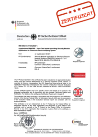 TSE-Urkunde - Technische Sicherheitseinrichtung