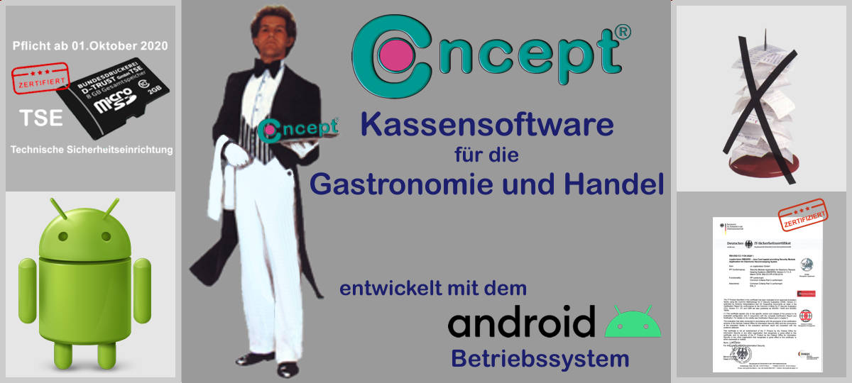 Concept Kassensoftware für Kassensysteme und Handys
